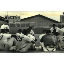 1991 Press Photo University of Wisconsin - Madison Baseball teams last meeting,