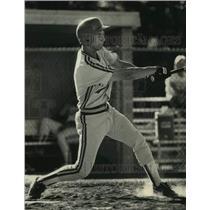 1991 Press Photo Brian Steinbach has helped his baseball team with his bat & arm