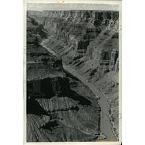 1991 Press Photo Colorado River cuts into Marble Canyon forming beaches, Arizona