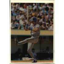1993 Press Photo Robin Yount trying to avoid inside pitch at Oakland Coliseum.
