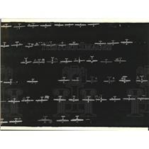 1994 Press Photo Planes parked at Wittman Regional Airport in Wisconsin.