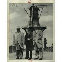Press Photo Three American Mayors in Rotterdam, Holland - abna44494