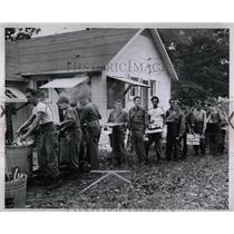 1947 Press Photo Michigan National Guard Camp Grayling - RRW00525