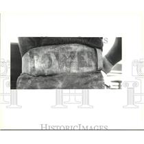 1992 Press Photo Weightlifter Jessen Kellum's lifting belt - nob47364