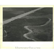 1990 Press Photo Aerial View of Kissimmee River and C-39 Channel in Florida