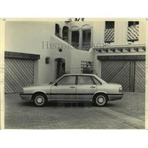 Press Photo The new four-door Audi 4000S automobile on display - not03938
