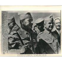 1965 Press Photo Danish officers arrive in New Delphi, India as observers