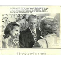 1971 Press Photo Evangelist Billy Graham & wife receive guests at NC reception