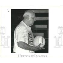 1994 Press Photo Benny Labourdette, follows Chalmette Owl Volleyball Team