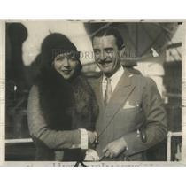 1930 Press Photo John Gilbert American Silent Film Actor & Wife