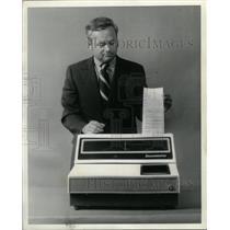 1972 Press Photo Documentor 2100 Computer Menu Forms