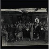 1935 Press Photo Wars Victory Perching Banners Denver