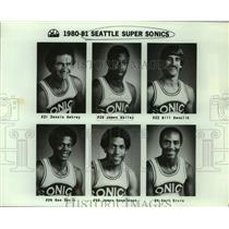 1980 Press Photo Seattle SuperSonics basketball mug shots - sas17829