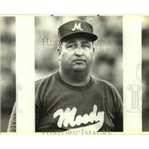 1989 Press Photo Corpus Christi Moody High baseball coach Hector Salinas