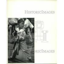 1992 Press Photo Andrew Harder, H.V. Tae Kwon Do, Empire State Games, New York