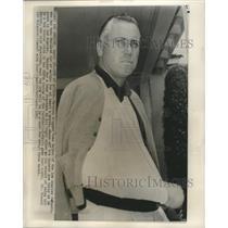 1961 Press Photo Injured Dodgers baseball's Duke Snider in Los Angeles