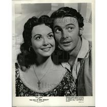 1958 Press Photo Actors Jerome Courtland Adele Mara - RRW21887