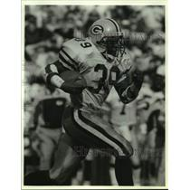 1991 Press Photo Packers Football's Darrell Thompson dashes for 40-yard run