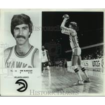 Press Photo Atlanta Hawks basketball player Tom McMillen - sas18033