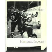 Press Photo New York Islanders vs. Cape Breton Oilers action in New York