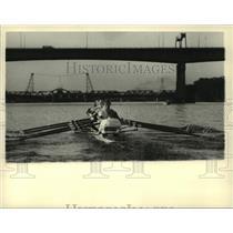 Press Photo Cornell University rowers compete in Albany, New York regatta