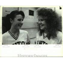 Press Photo Linton HS girls athletes Karly Heiner (Left) and Jennifer Nowak