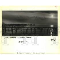 1989 Press Photo Sun sinking on Lake Catherine. - nob64566