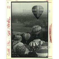 1991 Press Photo Mass ascension, U.S. Hot Air Balloon Championship, Baton Rouge