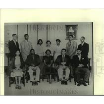 """Press Photo Ernest N. """"Dutch"""" Morial, fourth from left at bottom, future mayor"""