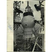 Press Photo First service capsule to be used off the Louisiana coast- Serviced