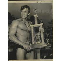 1970 Press Photo Kenny Guess, Mr. New Orleans competition - noo24987