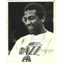 1979 Press Photo New Orleans Jazz Basketball Player Spencer Haywood Smiling