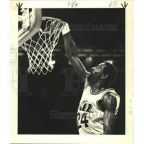 1979 Press Photo New Orleans Jazz Basketball Player Spencer Haywards at the Net