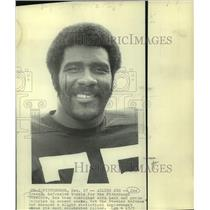 "1975 Press Photo Pittsburgh Steelers football player ""Mean"" Joe Greene"