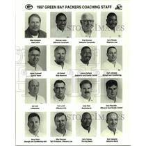 1997 Press Photo Green Bay Packers football coaching staff mug shots - nos13097