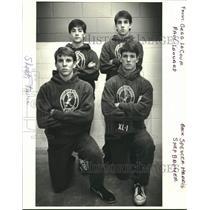 1988 Press Photo Jesuit High School Members Of The All-Metro Boys Wrestling Team