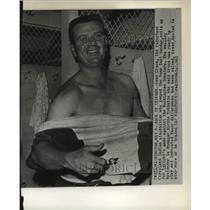 1963 Press Photo Gene Green and Birdie Tebbetts, Cleveland Indians baseball