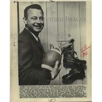 1964 Press Photo Minnesota Vikings football coach Norm Van Brocklin - nos13262