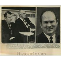 1965 Press Photo Detroit Lions coach Harry Gilmer and team management