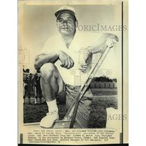 1971 Press Photo Former San Diego Chargers football coach Sid Gillman