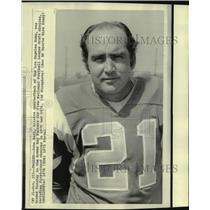 1974 Press Photo Green Bay Packers football quarterback John Hadl - nos14603