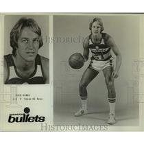 1975 Press Photo Washington Bullets basketball player Dick Gibbs - nos13999