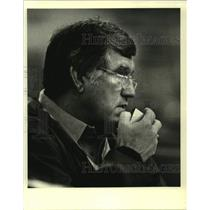 1984 Press Photo Green Bay Packers football coach Forrest Gregg - nos13348