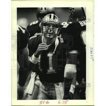 1989 Press Photo New Orleans Saints football quarterback John Fourcade