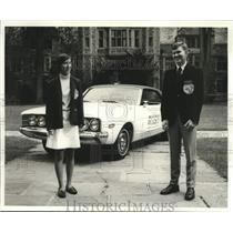 Press Photo Rachel Chauvin & Lubbie Jenkins, Louisiana's skilled teenage drivers