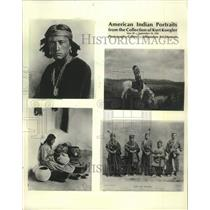 1905 Press Photo Kurt Koegler Collection of American Indian Portraits