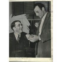 1938 Press Photo John L. Martin and Branch Rickey of the Cardinals, St. Louis