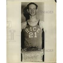 1955 Press Photo Rice Institute Basketball Player Temple Tucker - sas19921