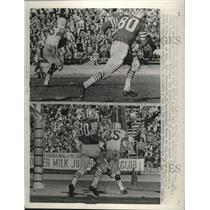 1962 Press Photo Green Bay Packer Tom Moore rambled 32 yards touchdown.