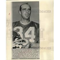 1964 Press Photo Don Chandler, kicking specialist, in jersey and holding helmet.
